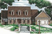 Colonial Style House Plan - 2 Beds 2 Baths 1768 Sq/Ft Plan #20-105 Exterior - Front Elevation