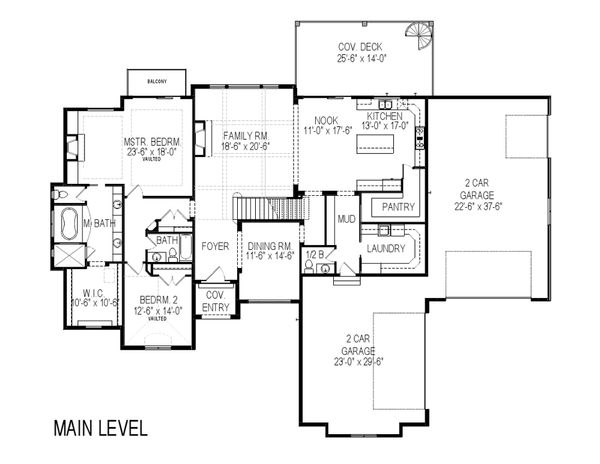 European Floor Plan - Main Floor Plan Plan #920-87