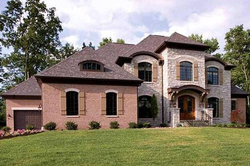 Traditional Exterior - Front Elevation Plan #46-398