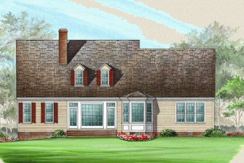Country Exterior - Rear Elevation Plan #137-188 - Houseplans.com