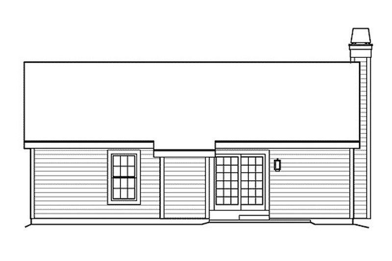 Cottage Exterior - Rear Elevation Plan #57-381 - Houseplans.com