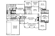 Country Style House Plan - 4 Beds 2.5 Baths 2000 Sq/Ft Plan #21-145 Floor Plan - Main Floor Plan