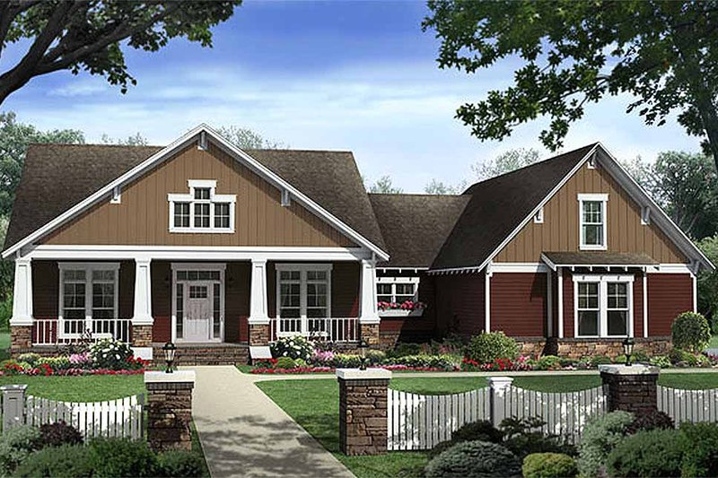 Craftsman Exterior - Front Elevation Plan #21-308