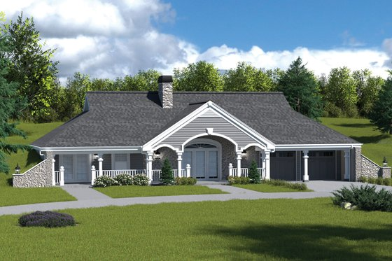 Farmhouse Exterior - Front Elevation Plan #57-366