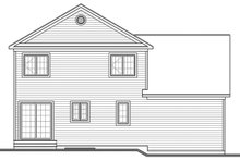 Architectural House Design - Traditional Exterior - Rear Elevation Plan #23-2624