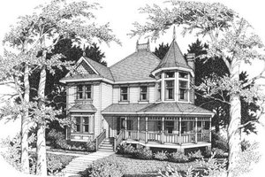 Architectural House Design - Victorian Exterior - Front Elevation Plan #10-204