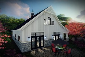 House Plan Design - Farmhouse Exterior - Rear Elevation Plan #70-1478