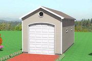 Traditional Style House Plan - 0 Beds 0 Baths 720 Sq/Ft Plan #75-201 Exterior - Front Elevation
