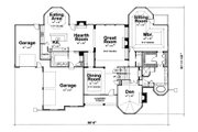 European Style House Plan - 4 Beds 5 Baths 4269 Sq/Ft Plan #20-2047 Floor Plan - Main Floor Plan