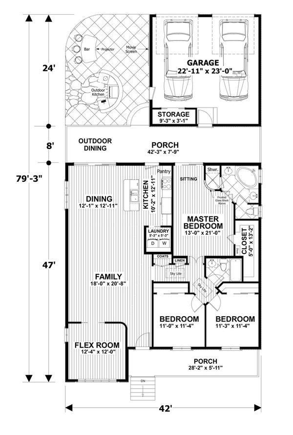 House Plan Design - Craftsman Floor Plan - Main Floor Plan #56-708