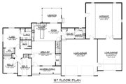 Craftsman Style House Plan - 3 Beds 2.5 Baths 1974 Sq/Ft Plan #1064-36 Floor Plan - Main Floor