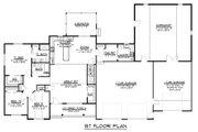 Craftsman Style House Plan - 3 Beds 2.5 Baths 1974 Sq/Ft Plan #1064-36 Floor Plan - Main Floor