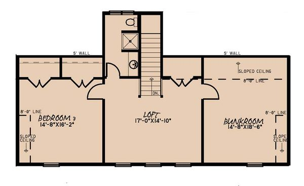 Farmhouse Floor Plan - Upper Floor Plan #923-173