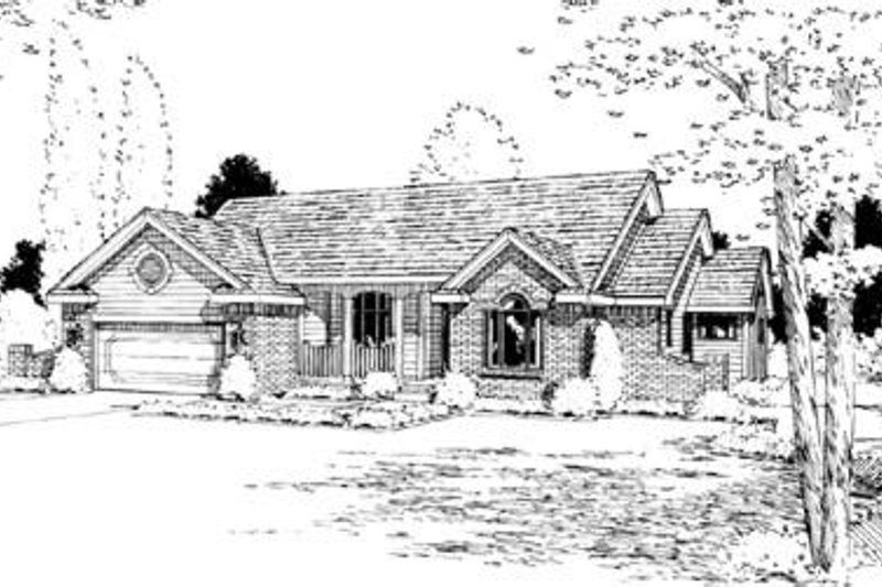 Traditional Exterior - Front Elevation Plan #20-667 - Houseplans.com