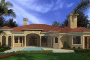 Mediterranean Style House Plan - 6 Beds 5 Baths 6095 Sq/Ft Plan #420-220 Exterior - Rear Elevation