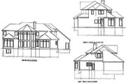 European Style House Plan - 4 Beds 3.5 Baths 2908 Sq/Ft Plan #67-418 Exterior - Rear Elevation