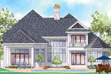 House Plan Design - Mediterranean Exterior - Rear Elevation Plan #930-275