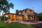 Contemporary Style House Plan - 4 Beds 3.5 Baths 3334 Sq/Ft Plan #1042-19 Exterior - Front Elevation