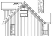 Cottage Style House Plan - 2 Beds 2 Baths 1172 Sq/Ft Plan #126-193 Exterior - Rear Elevation