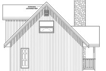Cottage Exterior - Rear Elevation Plan #126-193