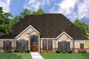 Traditional Style House Plan - 3 Beds 2 Baths 2570 Sq/Ft Plan #62-129 Exterior - Front Elevation