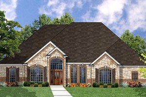 Traditional Exterior - Front Elevation Plan #62-129
