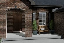 Architectural House Design - Traditional Exterior - Covered Porch Plan #1060-61