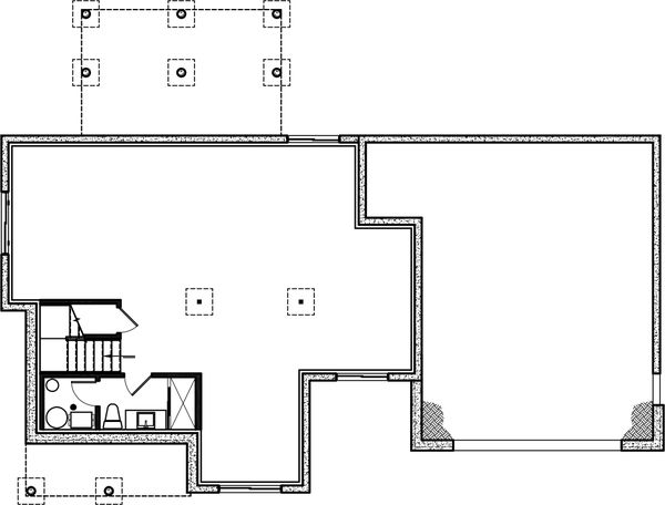 House Plan Design - Farmhouse Floor Plan - Lower Floor Plan #23-2735