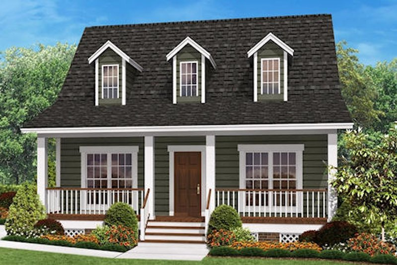 Dream House Plan - Farmhouse Exterior - Front Elevation Plan #430-4