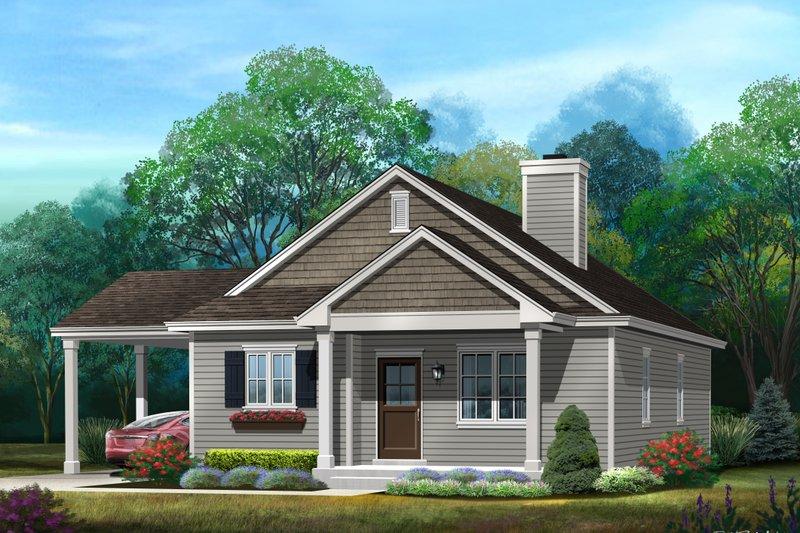 Home Plan Design - Bungalow Exterior - Front Elevation Plan #22-585