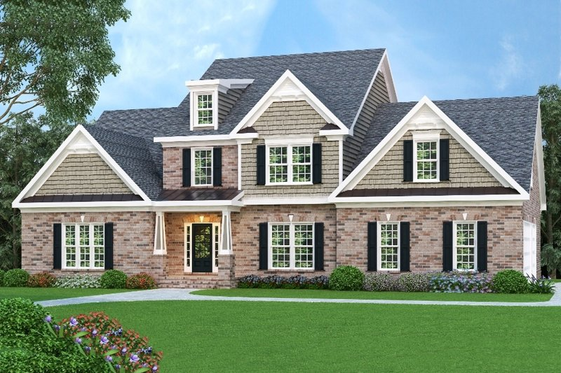 Dream House Plan - Southern Exterior - Front Elevation Plan #419-180