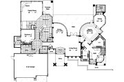 Modern Style House Plan - 4 Beds 3.5 Baths 3200 Sq/Ft Plan #417-369 Floor Plan - Main Floor Plan