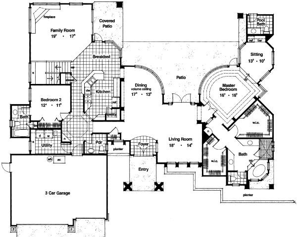 Modern Floor Plan - Main Floor Plan Plan #417-369