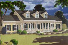 House Plan Design - Country Exterior - Front Elevation Plan #3-225
