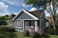 Ranch Exterior - Rear Elevation Plan #70-1245