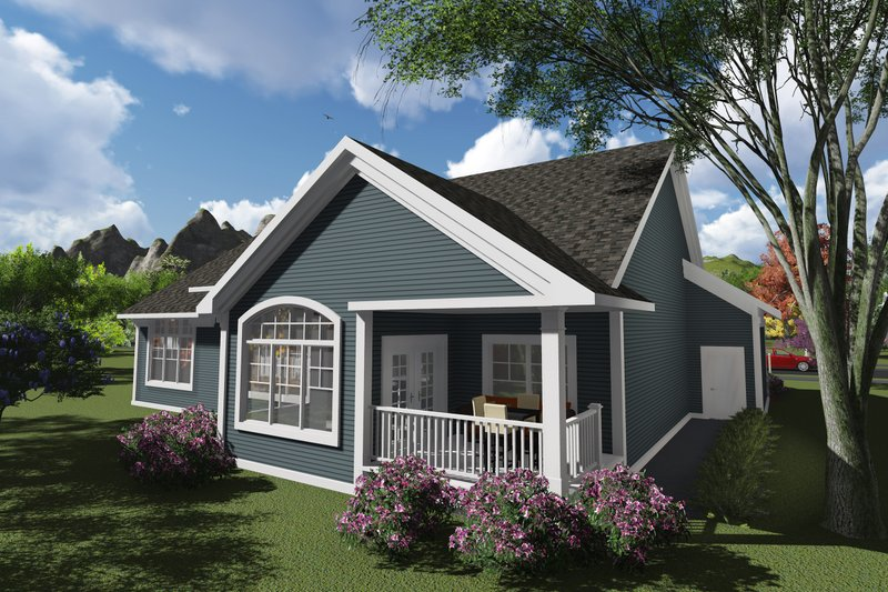 Ranch Exterior - Rear Elevation Plan #70-1245 - Houseplans.com
