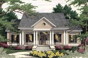 Southern Style House Plan - 3 Beds 2.5 Baths 1955 Sq/Ft Plan #406-285 Exterior - Front Elevation