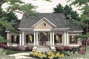 Southern Exterior - Front Elevation Plan #406-285