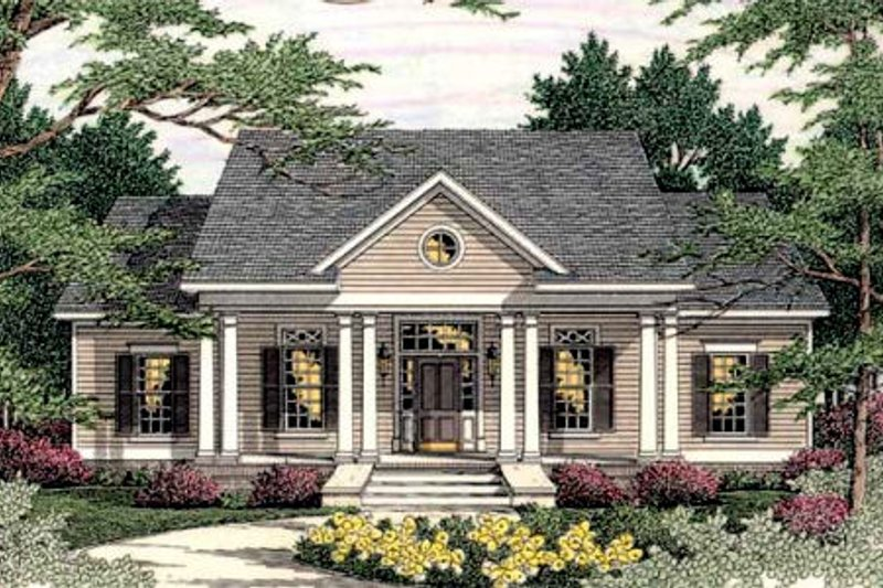 Southern Exterior - Front Elevation Plan #406-285 - Houseplans.com