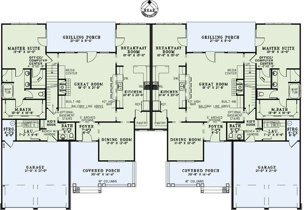 Traditional Floor Plan - Main Floor Plan #17-2485