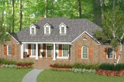 Colonial Style House Plan - 3 Beds 3.5 Baths 1990 Sq/Ft Plan #406-9616 Exterior - Front Elevation