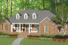 Colonial Exterior - Front Elevation Plan #406-9616