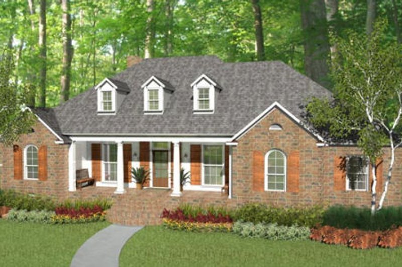 Dream House Plan - Colonial Exterior - Front Elevation Plan #406-9616