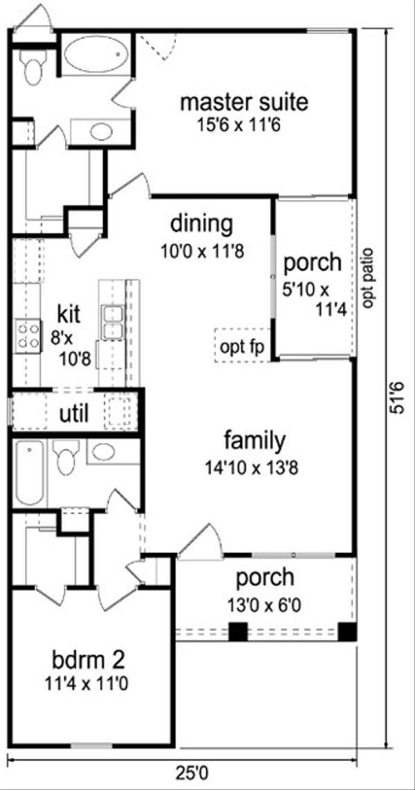 Cottage Floor Plan - Main Floor Plan #84-510