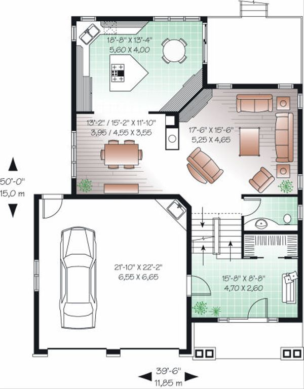 Craftsman Floor Plan - Main Floor Plan Plan #23-815