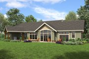 Craftsman Style House Plan - 3 Beds 2.5 Baths 2493 Sq/Ft Plan #48-960 Exterior - Rear Elevation