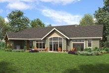 Architectural House Design - Craftsman Exterior - Rear Elevation Plan #48-960