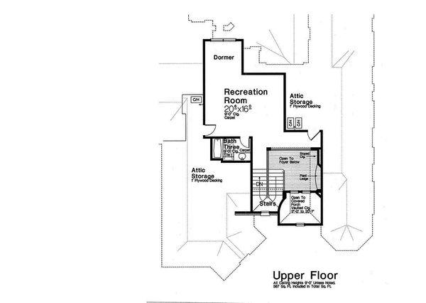 European Floor Plan - Upper Floor Plan Plan #310-1293