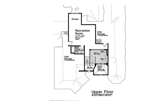 European Floor Plan - Upper Floor Plan Plan #310-1293