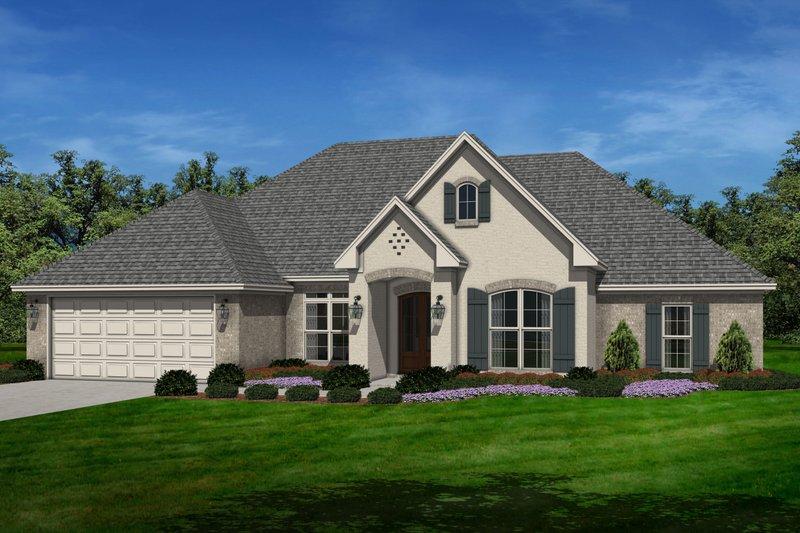 Dream House Plan - European Exterior - Front Elevation Plan #430-129